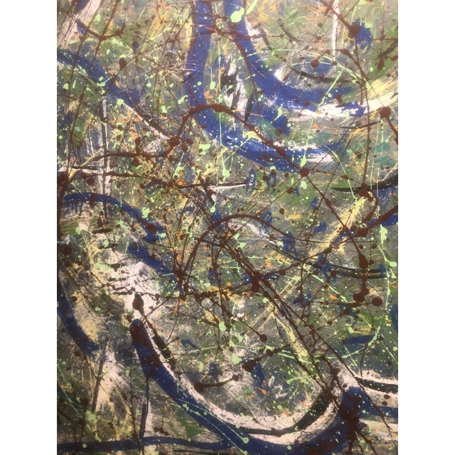 Abstract Expressionist Drip Glaze Style Painting For Sale - Image 11 of 13