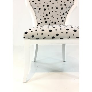 Currey & Co. Black and White Polka Dot Garbo Chair Preview