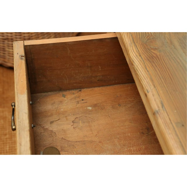 19th Century Classic English Pine Cupboard With Pot Board Dresser For Sale - Image 10 of 11