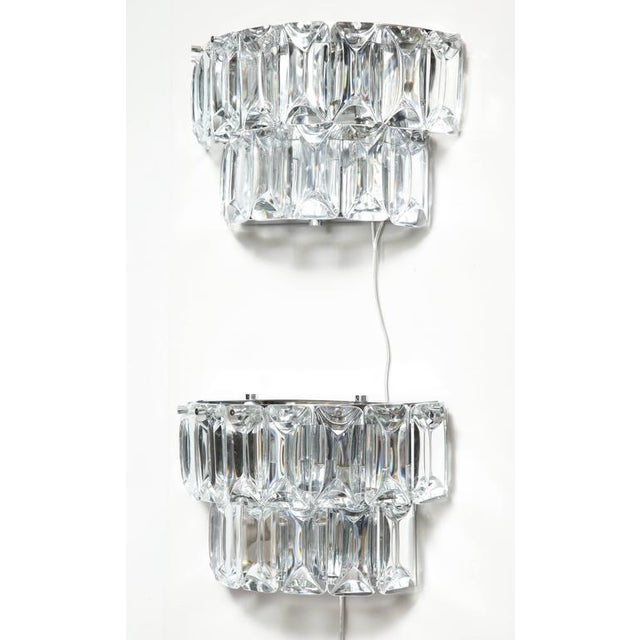 1970s Glamorous 1970s Austrian Crystal Sconces For Sale - Image 5 of 10