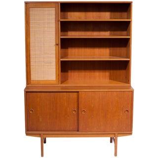 Folke Ohlsson Teak Credenza and Shelving Cabinet for Dux For Sale