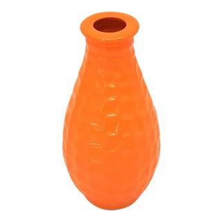 Mid-Century Modern Orange Geometric Petite Bud Vase For Sale
