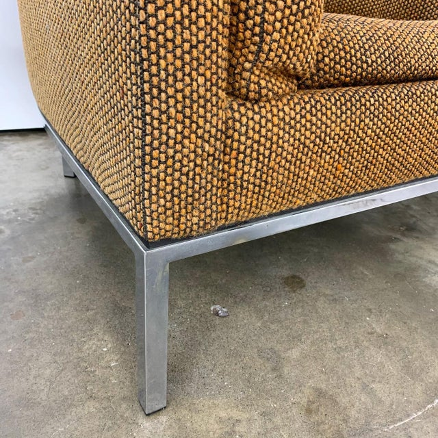 Metal Pair of Modern Club Chairs Designed by Jules Heumann For Sale - Image 7 of 11