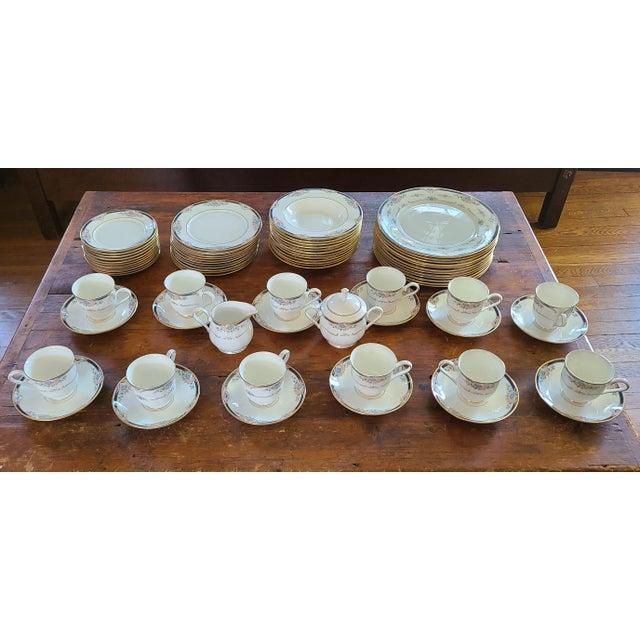 6 Piece Service for 12 Lenox Abigail Porcelain China Dinnerware Set, 1990s ~ Mint ~ For Sale - Image 13 of 13