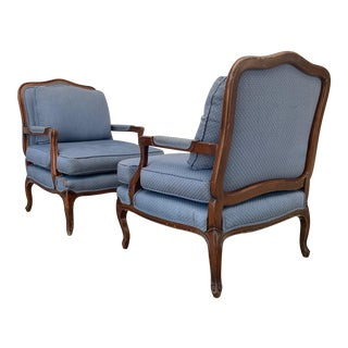 1940s Vintage French Arm Chairs - a Pair For Sale