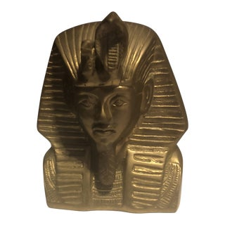 Egyptian King Tut Brass Bust For Sale