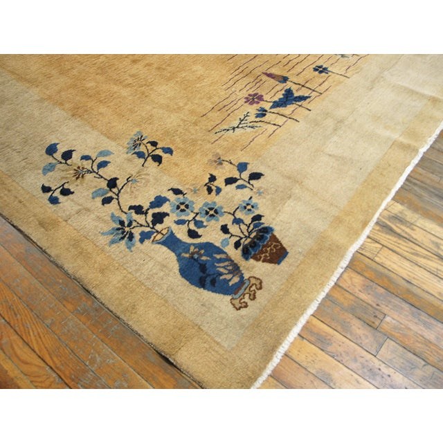 "Art Deco Antique Chinese Art Deco Rug 9'0"" X 14'6"" For Sale - Image 3 of 9"