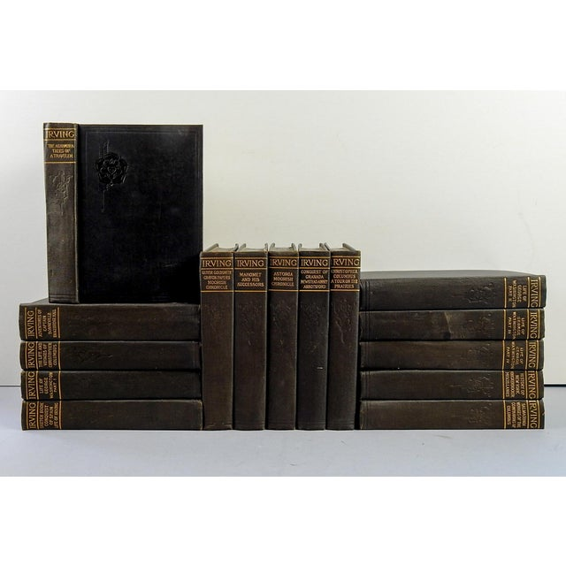 Works of Washington Irving 15 volumes. The Co-Operative Publication Society, New York, circa 1915. Black cloth binding,...