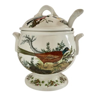 Vintage Portmeirion Birds of Britain Covered Soup Tureen With Ladle For Sale