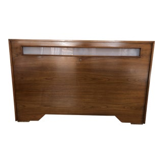 1960s Mid Century Modern Lighted Queen Size Headboard For Sale