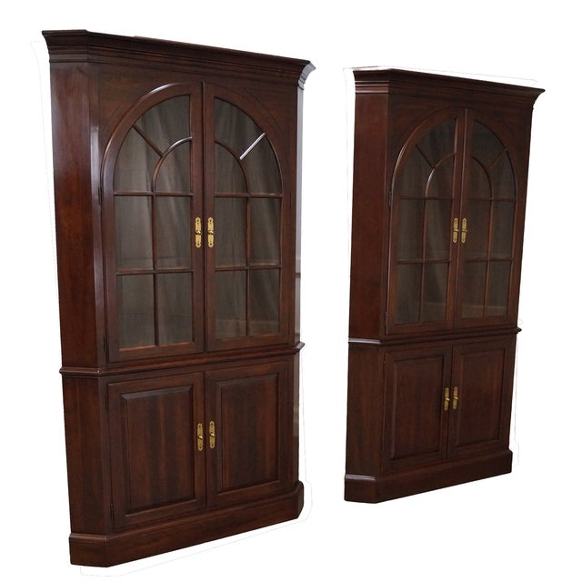 Ethan Allen Georgian Court Cherry Cabinets - Pair - Image 1 of 10