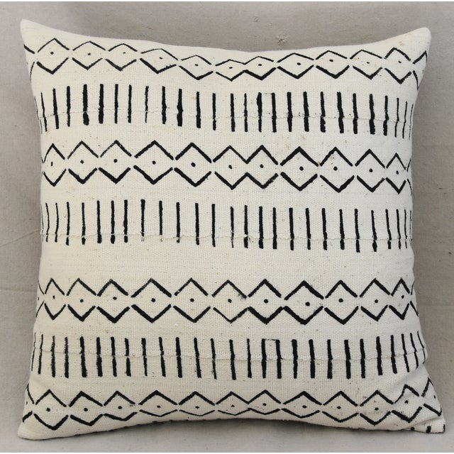 Boho-Chic Mali Mud Cloth Tribal Design Pattern Pillows - A Pair For Sale - Image 4 of 10