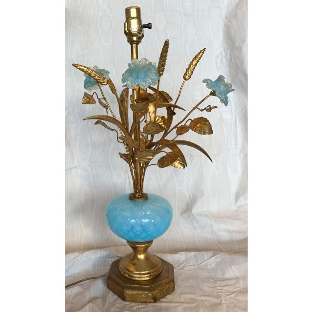 Mid 20th Century Murano Floral Bouquet Lamp For Sale - Image 11 of 11