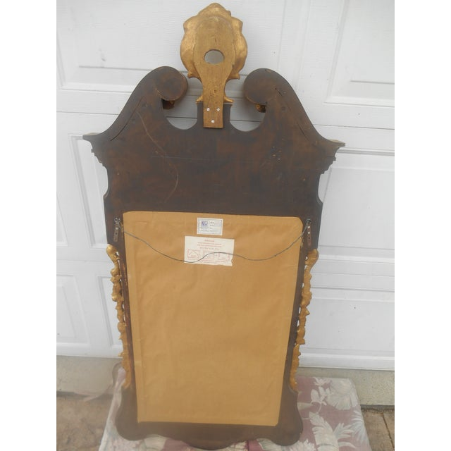 Glass Friedman Brothers Mahogany & Gold Georgian Mirror For Sale - Image 7 of 8