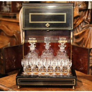19th Century French Napoleon III Mahogany Cave à Liqueur With Bronze Inlay Preview