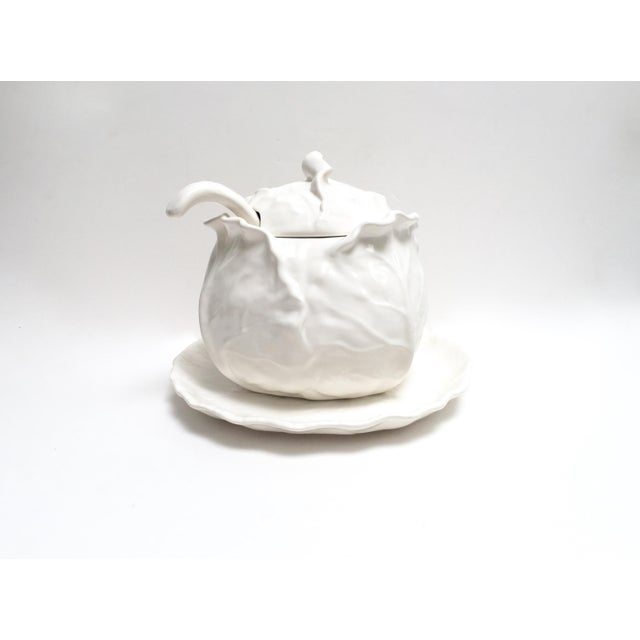 Metlox White Cabbage Tureen Set - Image 2 of 8
