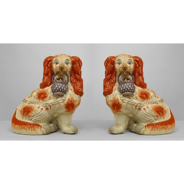 Early 20th Century English Staffordshire Spaniel Sculptures - a Pair For Sale In New York - Image 6 of 6