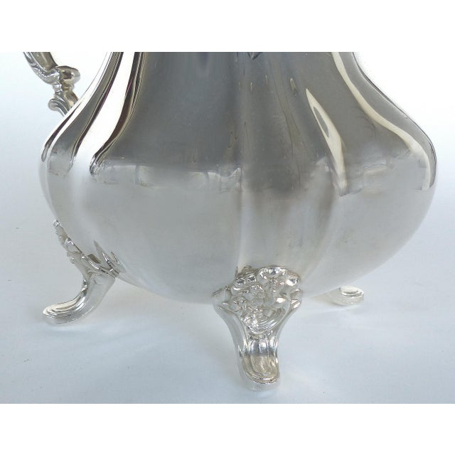 Mid 20th Century Gorham Electroplated Nickel Silver Footed Water Pitcher For Sale - Image 5 of 7