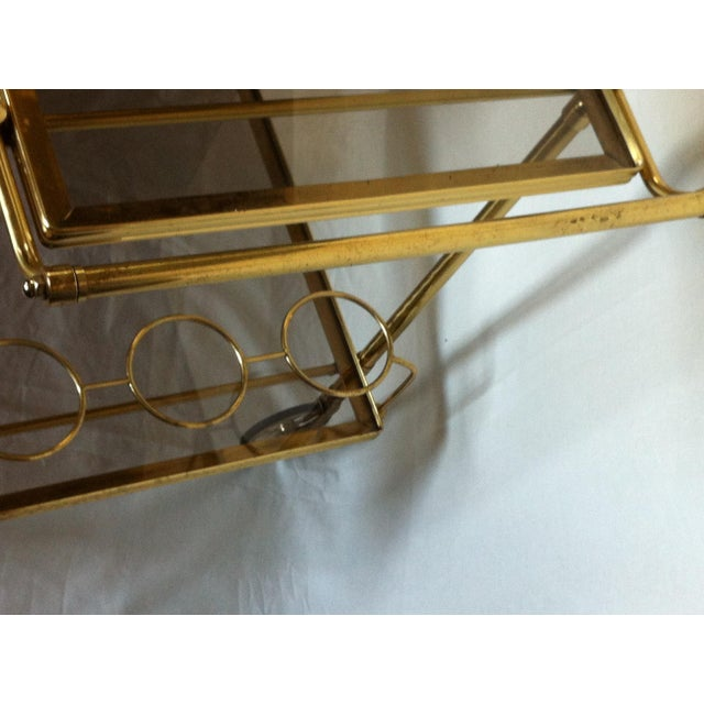 Maison Jansen Italian Brass Bar Cart - Image 6 of 6