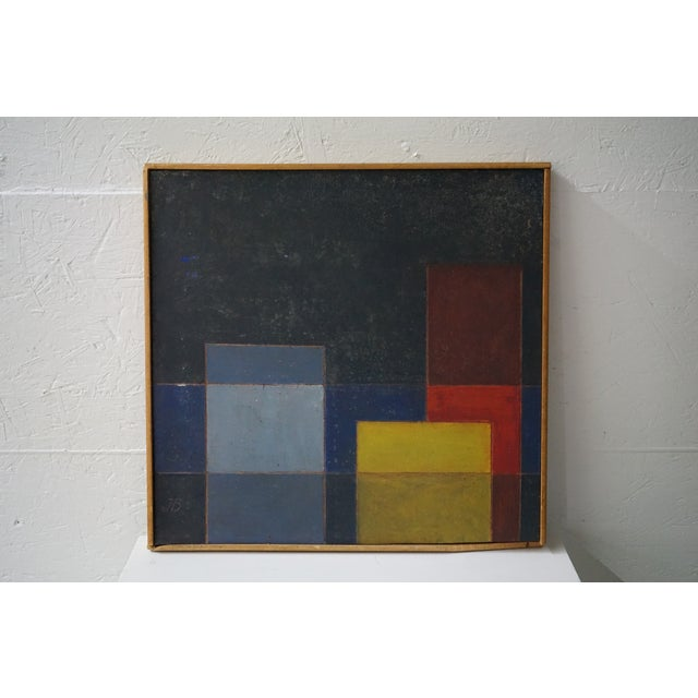 """Can you see this French, mid-century European modernist painting in the """"Color Shield"""" style in a space of your choice?..."""