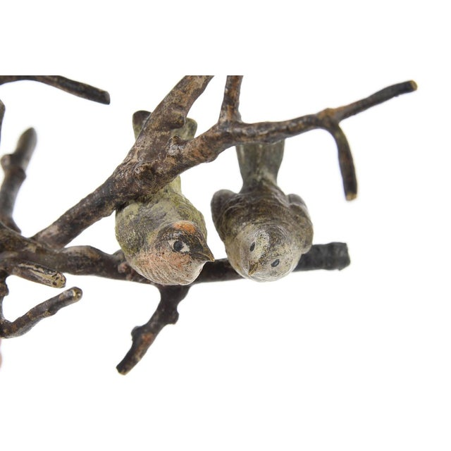 Vienna Antique Painted Bronze Miniature Birds - Image 9 of 9