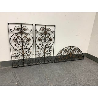 Rustic Three Piece Iron + Ornate Sculptural Wall Set Preview