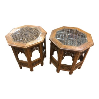 Anglo-Indian Octagonal Tables - a Pair For Sale