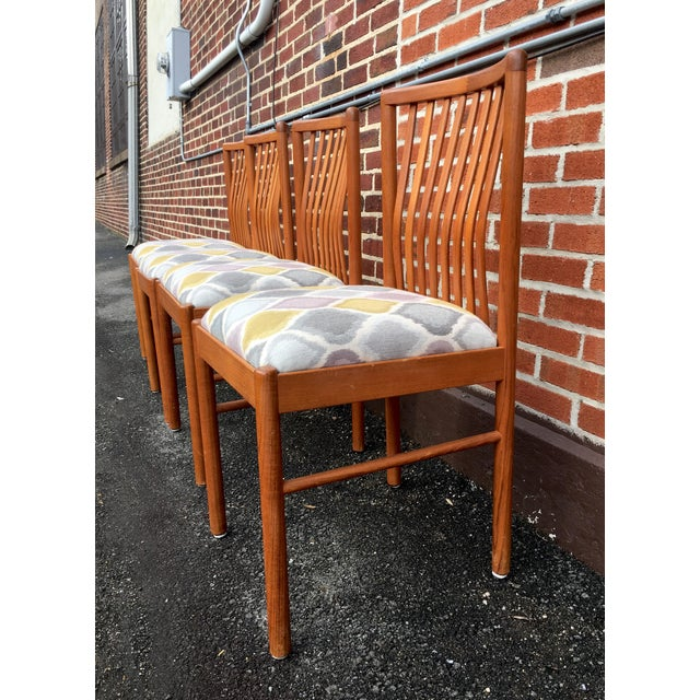 Mid 20th Century Danish Teak Dining Kitchen Chairs - Set of 4 For Sale - Image 5 of 9