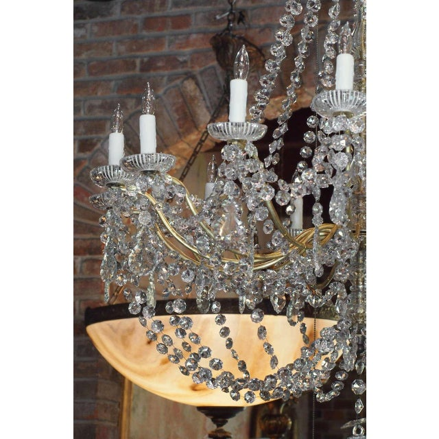 Mid 19th Century Antique French Crystal And Bronze 16-light Chandelier. For Sale - Image 5 of 9