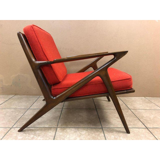 Z lounge chair by Poul Jensen for Selig. Has a nice walnut frame.