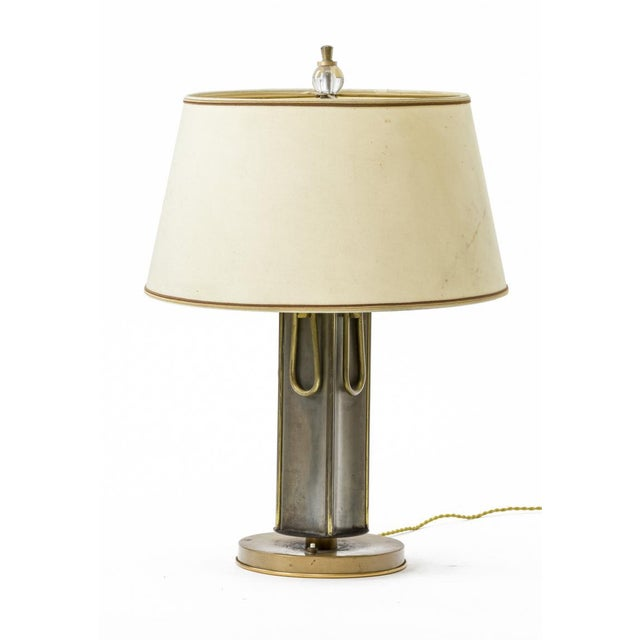 Marcel Asselbur 1950s 4 rings table lamp.