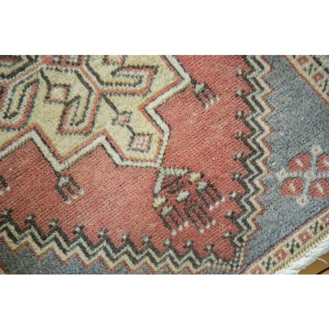 "Vintage Turkish Oushak Mat - 1'11"" x 3'1"" - Image 4 of 5"