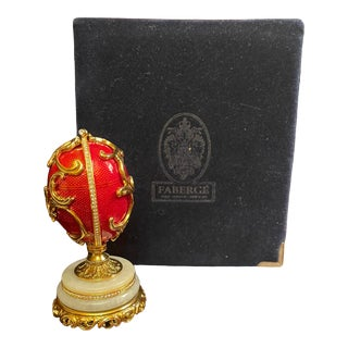 Faberge Spring Flowers Egg & Box For Sale