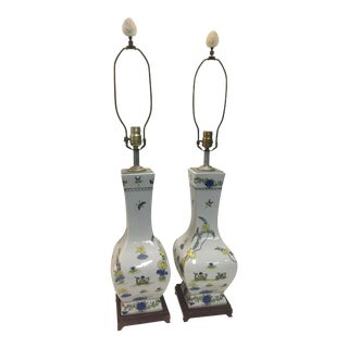Antique Chinese Lamps a Pair For Sale