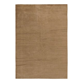 Modern Contemporary New Taupe Rug 6'7 X 9'6 For Sale