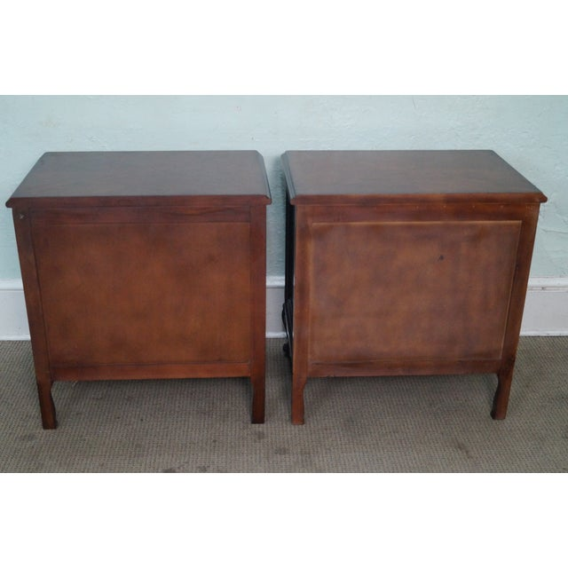 French Louis XV Style Mahogany Nightstands - A Pair - Image 4 of 8