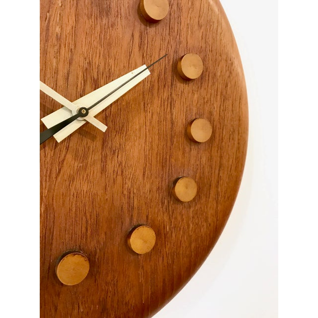 1950s Vintage George Nelson / Fritz Hansen Wall Clock 1950's For Sale - Image 5 of 11