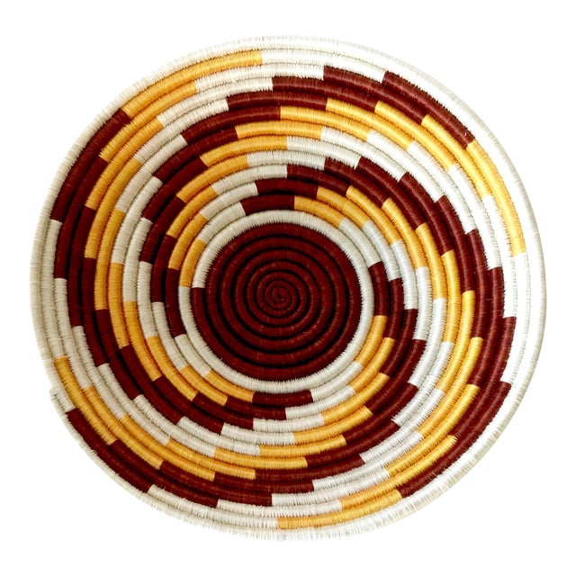 African Woven Basket - Image 1 of 7