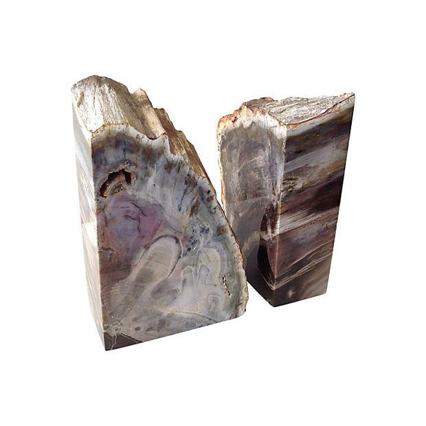 Pink and Chocolate Large Quartz Bookends - A Pair - Image 6 of 7