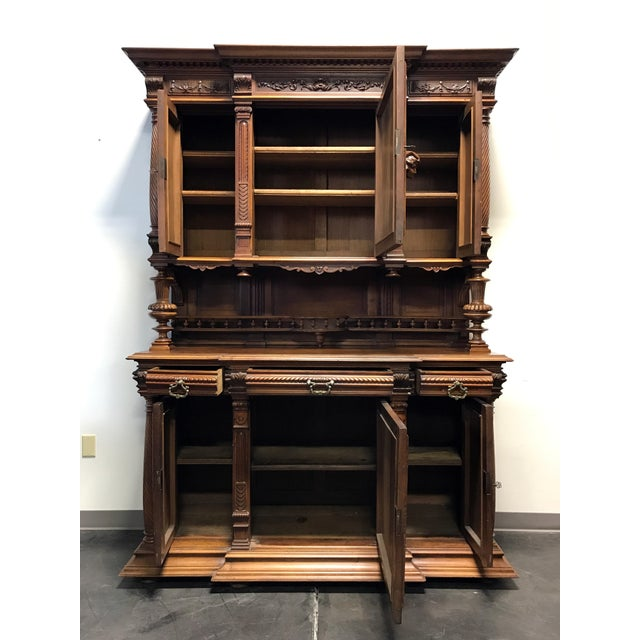 Late 19th / Early 20th Century French Carved Walnut Buffet a Deux Corps - Image 8 of 11