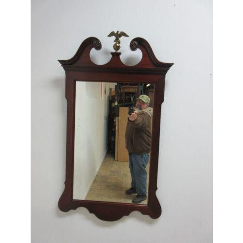 Up for consideration is this mahogany wall mirror. It's in great shape with just minor wear and scratches. The mirror is...