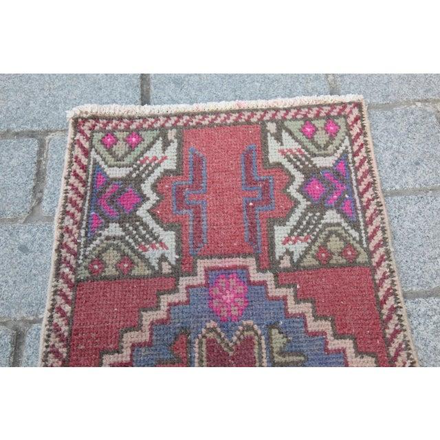Antique Turkish Carpet - 1′6″ × 3′1″ - Image 3 of 11