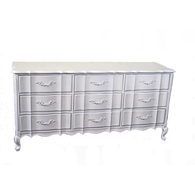 French Provincial White Dresser - Image 1 of 3