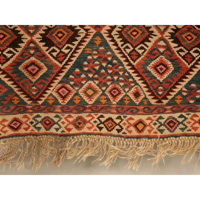 Circa 1930 Persian Kilim Geometric Patterned Rug - 5′2″ × 7′11″ For Sale - Image 9 of 10