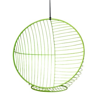 Bubble Hanging Swing Chair Half and Half Pattern - Green