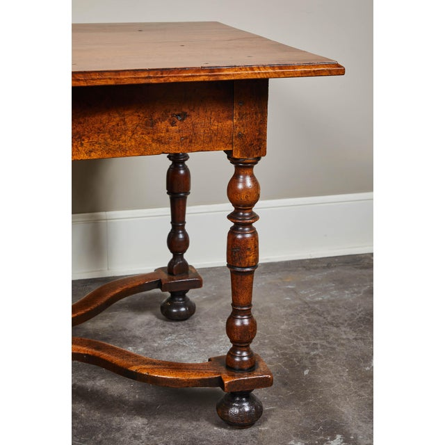 French 18th C. Louis XIII Walnut Library Table For Sale - Image 3 of 10
