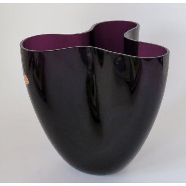 Glass Per Lütken Purple Glass Vase For Sale - Image 7 of 10