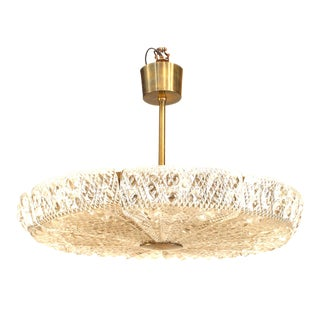 Swedish Orrefors Molded Glass Chandeliers For Sale