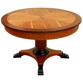 1930s Art Deco Walnut and Birch Game Table For Sale