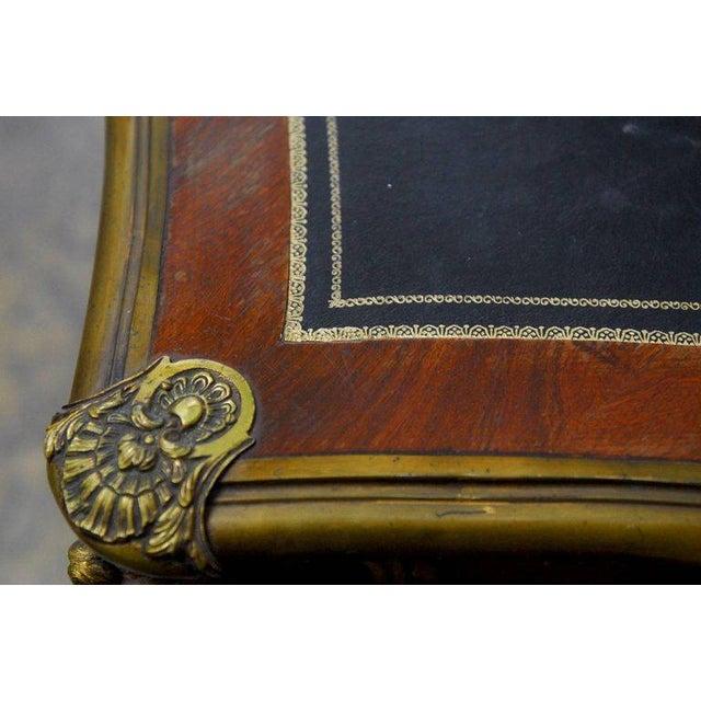 Louis XV Style Ormolu Mounted Figural Bureau Plat Desk For Sale - Image 5 of 10